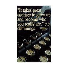 """""""Courage"""" Vintage Typewriter Decal"""