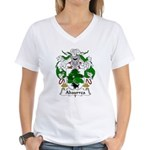 Abaurrea Family Crest Women's V-Neck T-Shirt