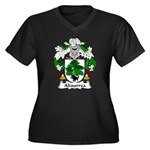 Abaurrea Family Crest Women's Plus Size V-Neck Dar