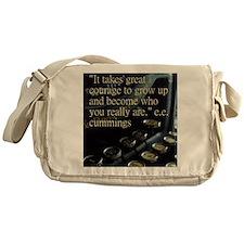 Courage Vintage Typewriter Messenger Bag