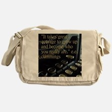 Courage Vintage Typewriter Messenger Bag