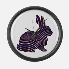 Rabbit in Stripes Large Wall Clock