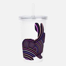 Rabbit in Stripes Acrylic Double-wall Tumbler