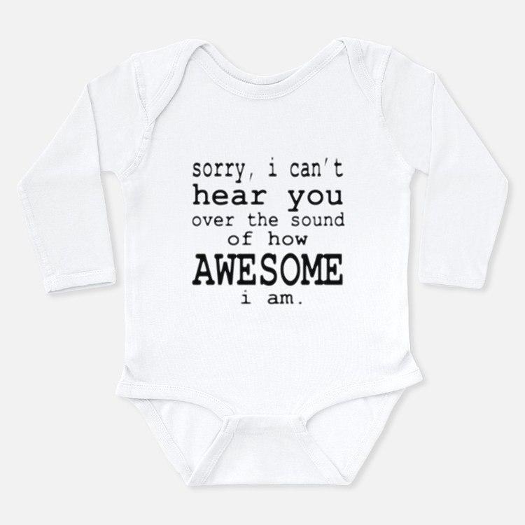 Cute Barney Long Sleeve Infant Bodysuit