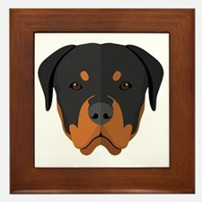 Cute Rottweiler Framed Tile