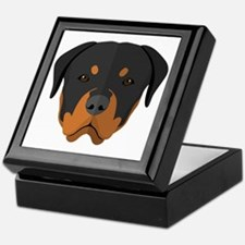 Cute Rottweiler Keepsake Box