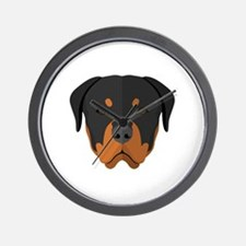Unique Rottweiler rescue Wall Clock