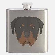 Unique Rottweiler dog Flask
