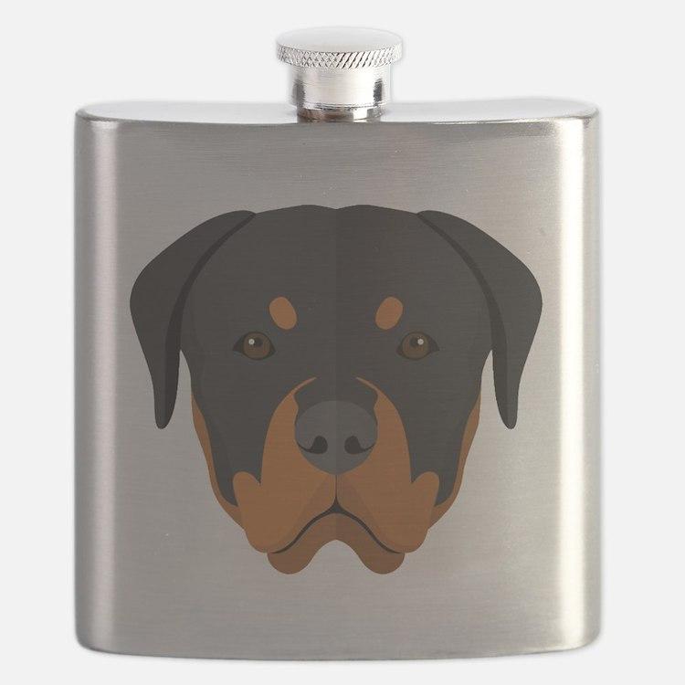 Cute Rottweiler Flask