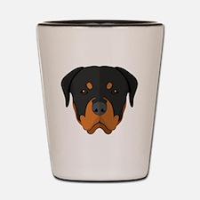 Cute Rottweiler Shot Glass
