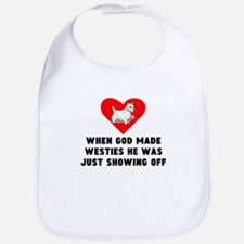 When God Made Westies Bib