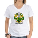 Abarrategui Family Crest Women's V-Neck T-Shirt