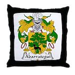 Abarrategui Family Crest Throw Pillow