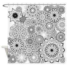 Snowflake Sketch 1 Shower Curtain