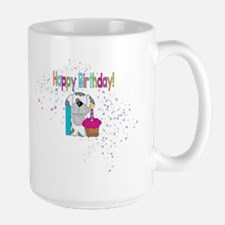 Happy 1st Birthday Large Mug