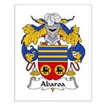 Abaroa Family Crest Small Poster