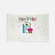 Happy 1st Birthday Magnets