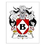 Abaria Family Crest Small Poster