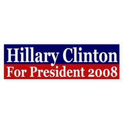 Hillary Clinton 2008 (bumper sticker)