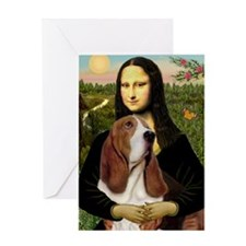 Funny Mona lisa Greeting Card