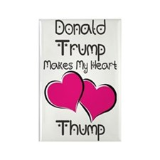Trump - Heart Thump Rectangle Magnet