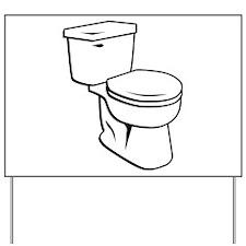 Toilet Yard Sign