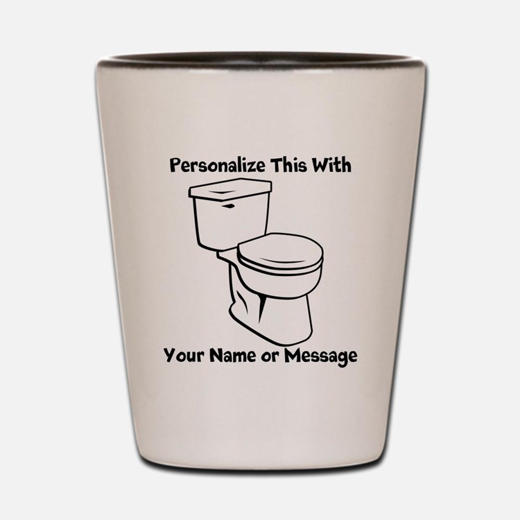 PERSONALIZED Toilet Graphic Shot Glass
