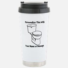 PERSONALIZED Toilet Graphic Travel Mug
