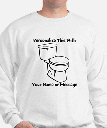 PERSONALIZED Toilet Graphic Sweater
