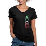 Mexico Women's V-Neck Dark T-Shirt