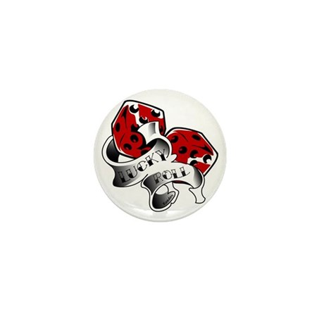 Resden Tattoo Dice Art Mini Button