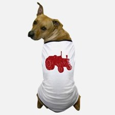 Retro Tractor Red Dog T-Shirt