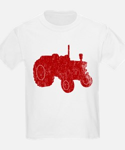 Retro Tractor Red T-Shirt