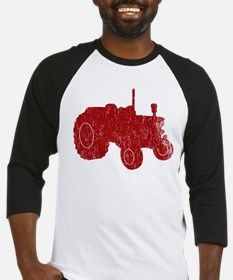 Retro Tractor Red Baseball Jersey