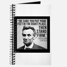 Abe Lincoln Stand Firm Journal