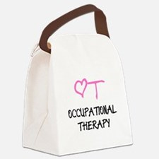 OT Heart Occupational Therapy Canvas Lunch Bag