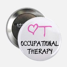 """OT Heart Occupational Thera 2.25"""" Button (10 pack)"""