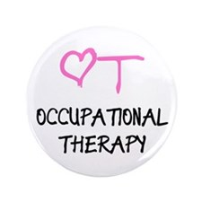 OT Heart Occupational Therapy Button