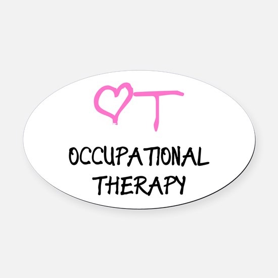 OT Heart Occupational Therapy Oval Car Magnet