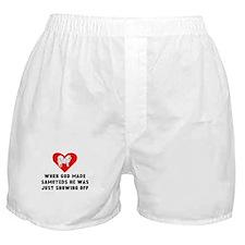 When God Made Samoyeds Boxer Shorts