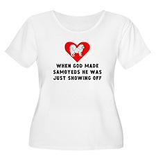 When God Made Samoyeds Plus Size T-Shirt