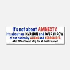 Stop The Invasion Car Magnet 10 X 3