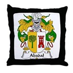 Abadal Family Crest Throw Pillow