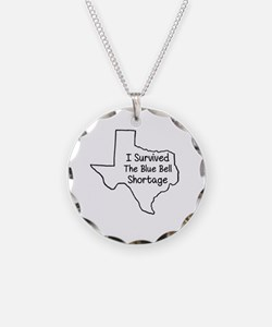 Survived the Blue Bell Short Necklace