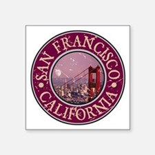 "Funny San francisco city Square Sticker 3"" x 3"""