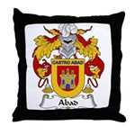 Abad Family Crest Throw Pillow