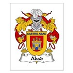 Abad Family Crest Small Poster