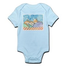 Mama and the Twins Tabby Cat and Kitten Body Suit