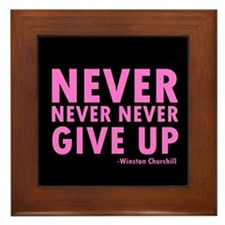NeverGiveUp9.png Framed Tile