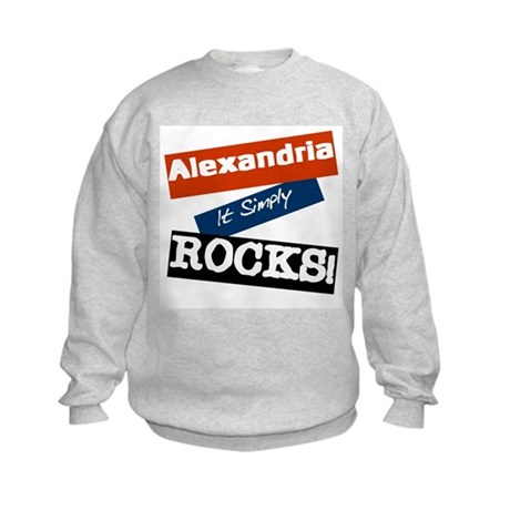 Alexandria Rocks Kids Sweatshirt